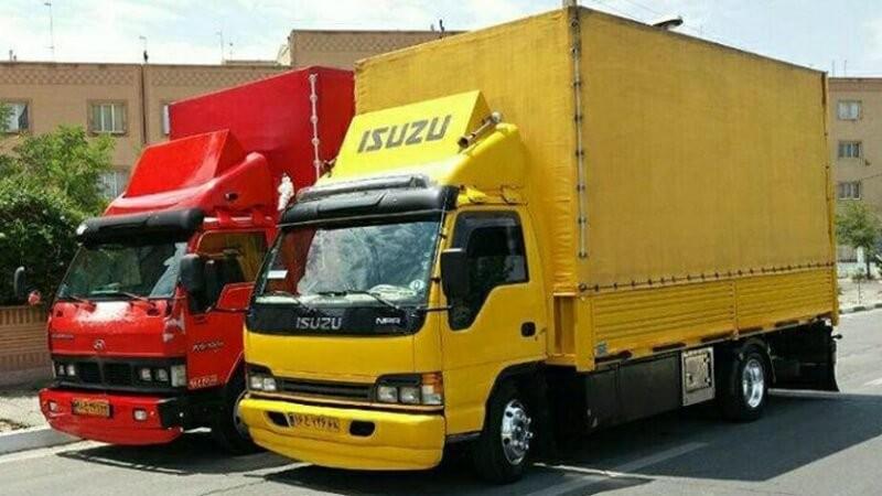 کامیون های مخصوص حمل بار بندرعباس