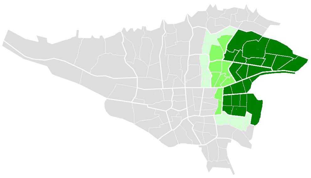 محدوده شرق تهران